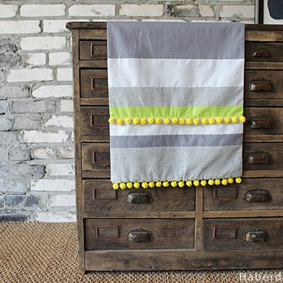 DIY… Pom Pom Table Runner for Sew Mama Sew