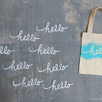 """DIY.. Printed """"Hello"""" Gift Bags"""