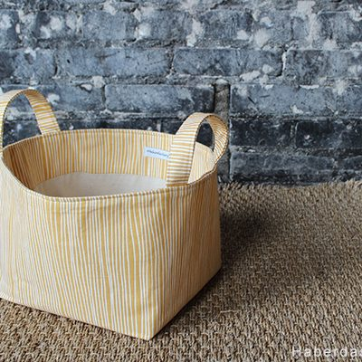 DIY.. Fabric Bin With Handles