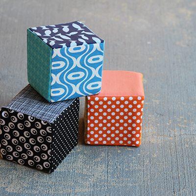 DIY.. Fabric Covered Foam Blocks
