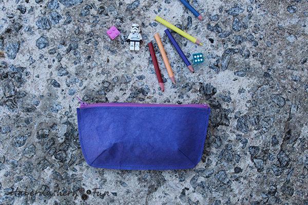 Sew A Simple Kraft-Tex Zipper Pouch